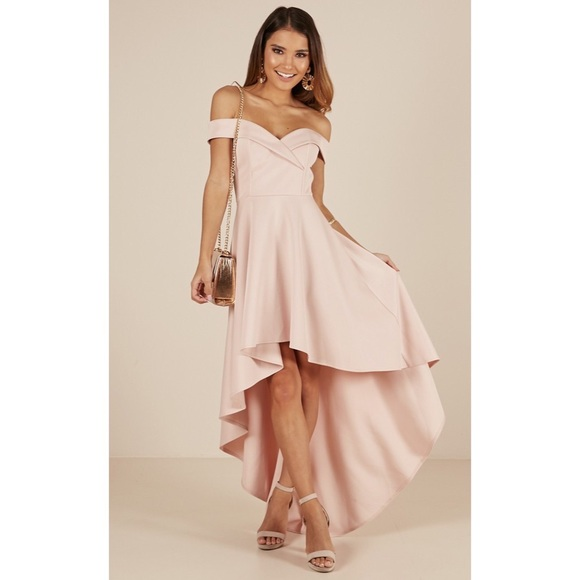 Blush Pink High Low Dress Boutique